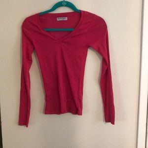 Micheal Stars Hot Pink Long Sleeve Tee.